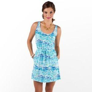 Lilly Pulitzer High Tide Toile Kori Dress Size XL